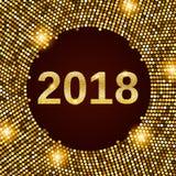 Предпосылка 2018 торжества Нового Года Стоковые Изображения RF