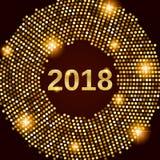 Предпосылка 2018 торжества Нового Года Стоковое Фото