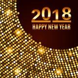Предпосылка 2018 торжества Нового Года Стоковые Фото