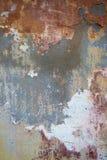 Предпосылка треснутая и шелушение краски старая стены Классический grunge Стоковая Фотография RF