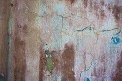 Предпосылка треснутая и шелушение краски старая стены Классический grunge Стоковые Изображения RF