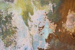 Предпосылка треснутая и шелушение краски старая стены Классический grunge Стоковое фото RF