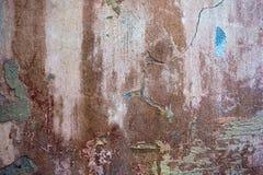 Предпосылка треснутая и шелушение краски старая стены Классический grunge Стоковые Фотографии RF