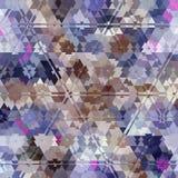 Предпосылка треугольника multicolor, светлый пастельный цвет голубых, розовых и lilas Стоковые Фотографии RF