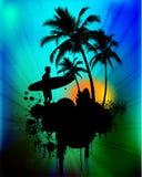 предпосылка тропическая иллюстрация вектора