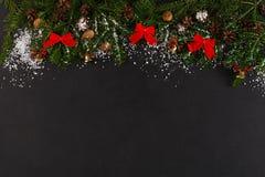 Предпосылка украшения рождества, космос экземпляра Стоковые Изображения