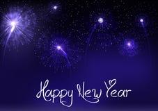 Предпосылка феиэрверков с новым годом иллюстрация штока