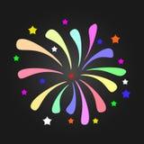 Предпосылка фейерверка, может быть пользой для торжества, партии, и события Нового Года также вектор иллюстрации притяжки corel Стоковое фото RF