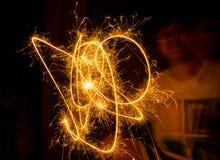 Предпосылка фейерверков абстрактная Стоковая Фотография