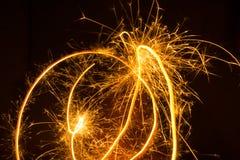 Предпосылка фейерверков абстрактная Стоковые Изображения RF