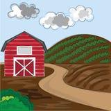 Предпосылка фермы Стоковое фото RF