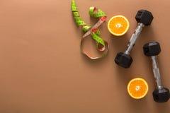 Предпосылка фитнеса, уменьшая космос экземпляра инструментов Стоковое Фото