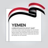 Предпосылка флага Йемена Стоковая Фотография