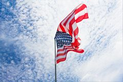 Предпосылка флага США, День независимости, четвертом -го символ в июле Стоковые Фото