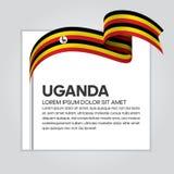 Предпосылка флага Уганды Стоковые Фотографии RF