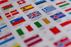 Предпосылка флагов Стоковое фото RF