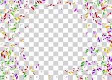 Предпосылка фольги Confetti прозрачная Стоковые Фото