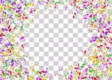 Предпосылка фольги Confetti прозрачная Стоковая Фотография