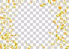 Предпосылка фольги Confetti прозрачная Стоковые Изображения RF