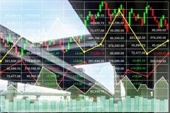 Предпосылка фондового индекса финансов дела дела транспорта Стоковые Фотографии RF