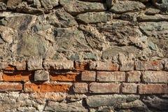 Предпосылка фото текстуры камня и кирпичной стены Стоковое Изображение