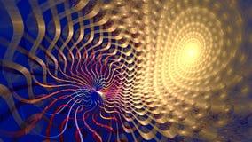 Предпосылка фрактали с формами абстрактного крена изогнутыми Высокая детальная петля видеоматериал