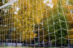 Предпосылка футбола или футбола сетчатая, осень Стоковое Изображение RF