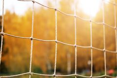 Предпосылка футбола или футбола сетчатая, осень Стоковое фото RF