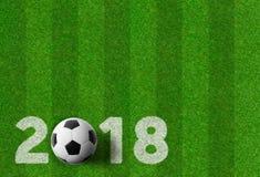 Предпосылка футбола - 2018 Стоковое Изображение RF