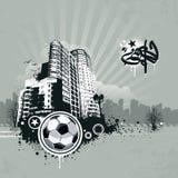 Предпосылка футбола Grunge урбанская иллюстрация штока
