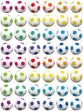 Предпосылка футбольных мячей красочная Стоковые Фото