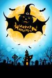 Предпосылка хеллоуина с извергом летучей мыши стоковые изображения