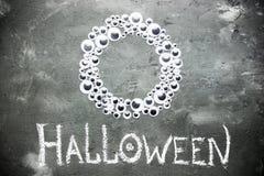 Предпосылка хеллоуина с рамкой зрачков игрушки Стоковая Фотография RF