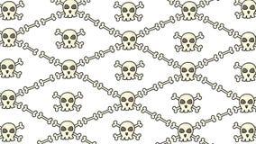 Предпосылка хеллоуина с черепами иллюстрация штока
