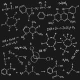Предпосылка химии Стоковая Фотография