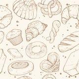 Предпосылка хлебопекарни безшовная Стоковые Изображения RF