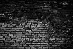 Предпосылка хмурого grunge черно-белая старой темной кирпичной стены стоковое изображение