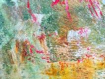 Предпосылка холста искусства покрашенная acrylic пестротканая Стоковое фото RF
