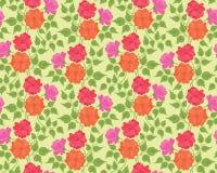 Предпосылка цветастого цветка безшовная Стоковые Фотографии RF