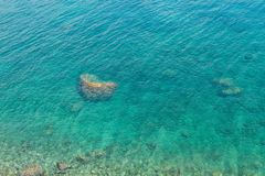 Предпосылка цвета бирюзы Средиземного моря в Kemer Стоковое Изображение