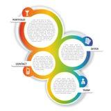 Предпосылка цвета вектора для брошюры или вебсайта Стоковые Изображения RF