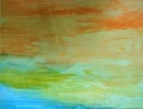 Предпосылка цвета воды Seascape абстрактная Стоковая Фотография RF