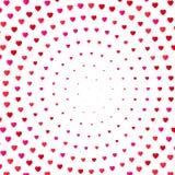 Предпосылка цвета полутонового изображения сердца Карточка дня валентинок и приглашения замужества, романс и влюбленность вектор Стоковая Фотография RF