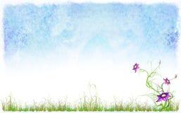 предпосылка цветет весна травы Стоковое Изображение RF