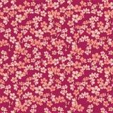предпосылка цветет красный цвет Иллюстрация вектора