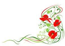 предпосылка цветет маки Стоковые Фотографии RF