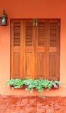 предпосылка цветет окно Стоковое Фото