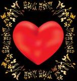 предпосылка цветет сердце Бесплатная Иллюстрация