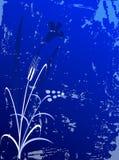 предпосылка цветет grunge Стоковое Изображение RF