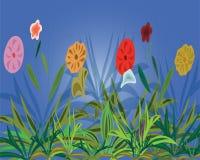 предпосылка цветет varicoloured Стоковое Изображение RF